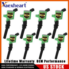US DG508 High Performance Ignition Coils Pack of 8 For Ford F-150 V8 V10 Green