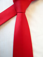 TIE RACK LONDON RED 3.5 INCH POLYESTER NECK TIE