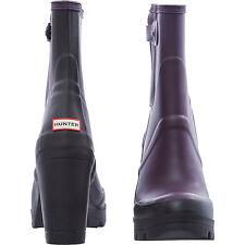 NEW AUTHENTIC  Hunter Original High Heel Plum Boots Wellies  - UK Size 5