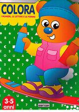 Colora i numeri, le lettere e le forme. Verde -Baby cart-Libro Nuovo in Offerta!