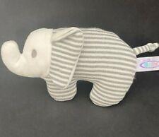 Mary Meyer Baby Elephant Gray White Stripes Knit Plush Rattle Afrique Boutique
