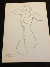 Henri Matisse Nude Drawing Lithograph Litho Old Wall Art Print Vintage 1952
