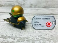 Awesome Little Green Man Golden Army General Direction 1-051M Rare Figure