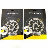 1 or 2 Tektro Airflow 6 Bolt Disc Brake Bike Rotor 140/160mm Road CX Mountain