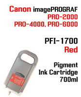 PFI-1700 Red Canon imagePROGRAF PRO compatible Ink cartridge 700ml