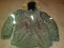 VTG US ARMY MILITARY JACKET COLD WEATHER PARKA HOOD COYOTE N-3B M MEN GREEN 60S