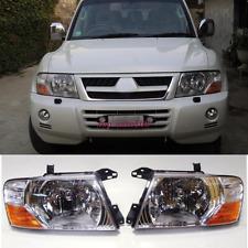 For Mitsubishi Pajero Montero Front Head lamp Headlights Assembly Set 2000-2006