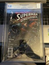 Superman Unchained # 1  Aug. 2013 CGC 9.8  5x Signed Jim Lee, Rare{CGCB1}