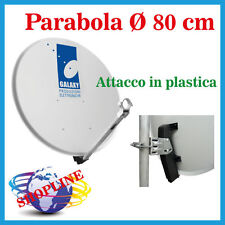 Parabola Satellitare 80 cm Con Supporto in Plastica