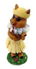 "Hawaiian Hawaii souvenir Miniature Dashboard Car Vechile HULA PIG Doll 4"" #40783"