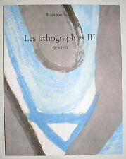 BRAM VAN VELDE. Les LITHOGRAPHIES III, 1979 - 1981.