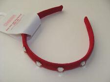 Gymboree Penguin Chalet Girls Hair Headband Red NEW