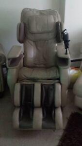 Cream Osaki TI-7700R S-Track Massage Chair Zero Gravity Recliner + message,heat