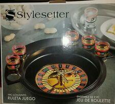 Stylesetter Roulette WheelGame Bar Vegas Frat Party ShotGlass Set Drinking Fun