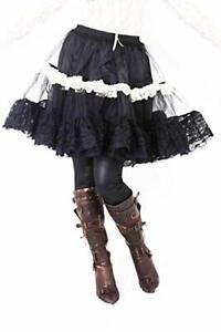 Bitter Beauty 3 Tier Petticoat Skirt White Black Phaze Clothing Alternative