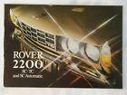 Rover 2200 brochure (SC, TC & SC Automatic) 1975