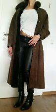 Lammfell Mantel Jacke 42 M Leder Fell Real Vintage Street Shabby Swinger Coat