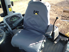 CAT Backhoe Seat Cover Embroidered with Logo  Heavy Duty Waterproof