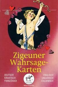 Zigeuner Wahrsage-Karten: deutsch, kroatisch, franz., engl., ungar., italienisch