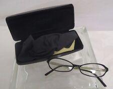 Woman's Calvin Klein Black & Yellow Eye Glasses With Black Case