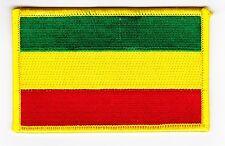 EMBROIDERED 2.5w x 4L REGGAE RASTA IRON ON PATCH FLAG SHIRT JACKET BOB MARLEY