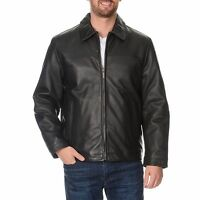 Perry Ellis Men's Zip Front BIG N TALL Leather Jacket