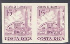 Costa Rica 1967, 15c cathedral, IMPERF PAIR, American Bank Note Co. NH #C454