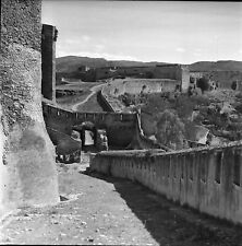 ESPAGNE c. 1950 - Rue Forteresse Remparts Tortosa - Négatif 6 x 6 - Esp 203