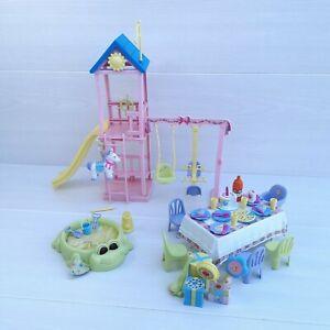Mattel 2003 Barbie Happy Family Baby's First Birthday Playset Set Model B6292-0.