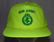 Vintage Bright Neon FBI National Academy New Jersey Snapback Hat Cap
