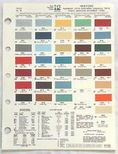 1978 FORD PPG COLOR PAINT CHIP CHART ALL MODELS ORIGINAL