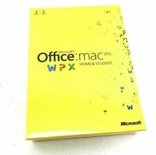 Microsoft Office MAC 2011 Home and Student  DVD 1 User 1 Mac - NEW SEALED