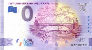 0 Euro Schein Kiel-Canal  Anniversary XEMM 2020-4 Souvenir Null € Banknote