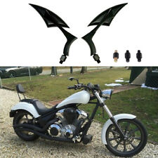 Black Universal Rearview Mirrors Motorcycle Cruiser Chopper Bobber Custom M8/M10