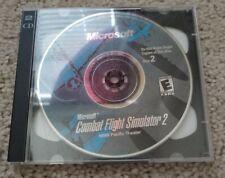 Microsoft Combat Flight Simulator 2 Vintage PC Game discs only