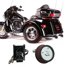 "2009-2013 Harley Trike FLH Touring 3.5"" Rinehart True Duals Complete Power Pack"