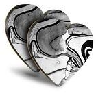 2x Heart MDF Coasters - Japanese Art Marbelling Marbel Effect  #45430