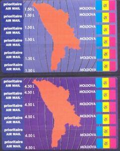 Moldova 1994. Air Mail. Map & Flags. 2 Mini Sheets. MNH**