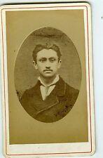 PHOTO CDV dos nu un jeune homme prend la pose moustaches vers 1880