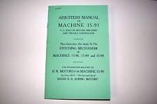 Singer Adjusters Manual Service & Time 15 15-88 15-89 15-90 15-91Sewing Machine