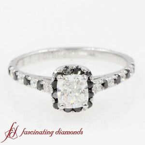 Details about  /Classic Cushion Cut 1.57 CT Black Diamond 925 Silver Engagement and Wedding Ring
