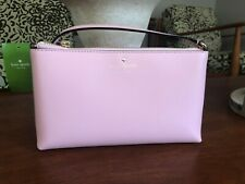 Kate Spade Authentic Amy Ivy Street Pink Rose Jade Leather Crossbody Purse NWT