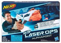 Nerf Laser Ops Pro AlphaPoint Ages 8+ Toy Gun Fight Play Gift Ammo Phone Armband