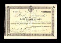 F.C.  2000 REALES 1873 (BAYONA) , SERIE D , MBC+ , PUNTOS DE AGUJA .