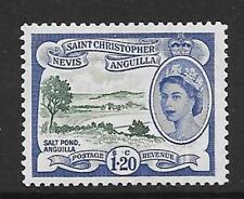 ST. Kitts-Nevis sg117 1954 $1.20 DEEP GREEN & BLU OLTREMARE MTD Nuovo di zecca