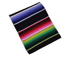 203 Fine Sarape Mexican Blanket Authentic Original El Paso Black Multicolored