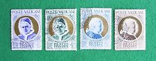 Vatican stamps (1951): full set of 4; used, hinged: Beatification of Pius X