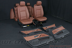 BMW 5 series F11 Touring leather seats interior RHD cars brown Lederausstattung