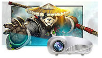 Hot Home Multimedia Cinema LED HD Projector Support AV TV VGA USB HDMI SD Lot