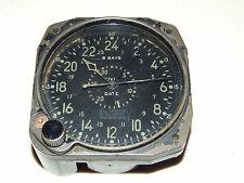 Vintage U.S. NAVY WWII Airplane Cockpit Pilot Plane Clock - Waltham Clock Co.